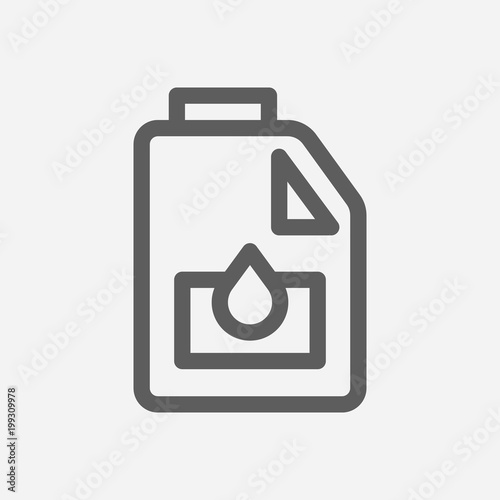 Engine Oil Icon Line Symbol Isolated Vector Illustration Of Motor
