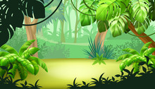 Game Landscape With Tropical J...