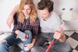canvas print picture - Freude über ein neues Zuhause