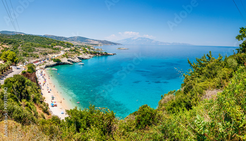 Photo Beautiful sunny view of one of the Zakynthos beaches, Greece