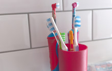A Variety Of Toothbrushes, Inc...
