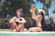 Girl, Fruits, summer, pool