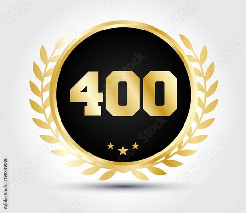 Tela  400 laurel gold vector