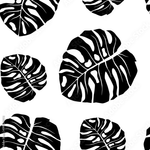 Seamless Pattern With Black And White Tropical Leaves Negative Monster Leaf Vector Image Seamless Background Buy This Stock Vector And Explore Similar Vectors At Adobe Stock Adobe Stock Pngtree offers tropical leaves png and vector images, as well as transparant background tropical leaves clipart images and psd files. seamless pattern with black and white