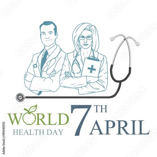 43530ebb8858 World Health Day 7 April. Healthy lifestyle concept. World Health ...