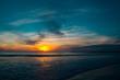 Sunset at beach Puerto Vallarta