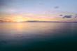 Beautiful sunset at El Carmen on the island of Siargao, Philippines