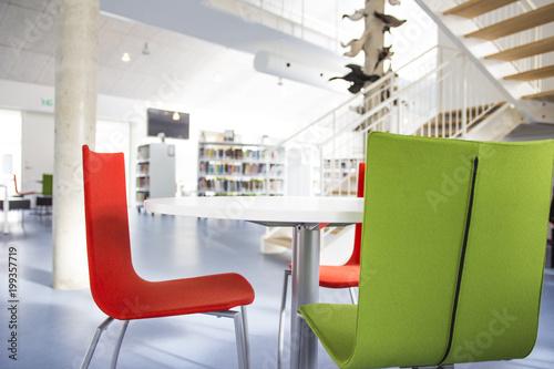 Zdjęcie XXL Biblioteka w college'u na Wyspach Owczych
