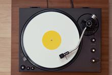 Vintage Record Turntable Plays...