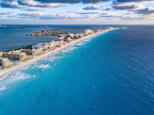 Cancun With Blue Water