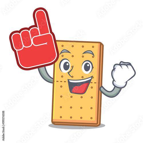 Fotografie, Obraz  Foam finger graham cookies mascot cartoon