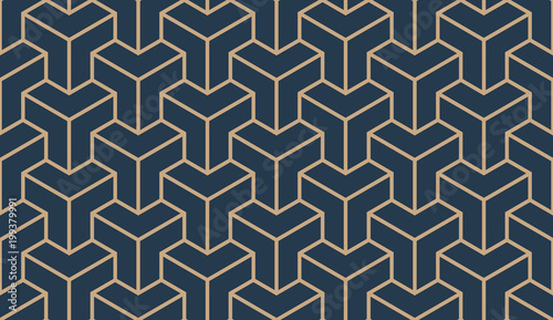 Photo  Seamless tan blue and brown asian trilateral pattern vector