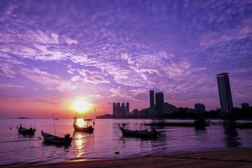 Sunrise at Tanjung Bungah Penang Malaysia