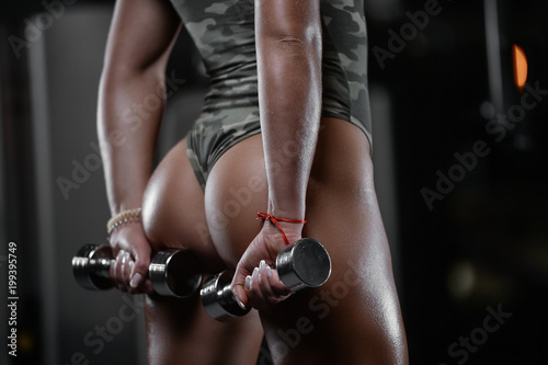 Sexy athletic young woman ass Canvas Print