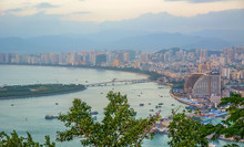 Panorama Of The City Of Sanya,...