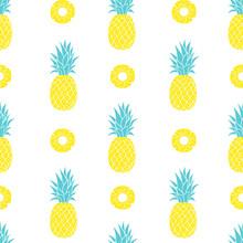 Pineapple Seamless Pattern. Vector Illustration..