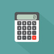 calculator flat design with long shadow