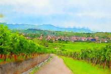 France Landscape, Alsace Count...