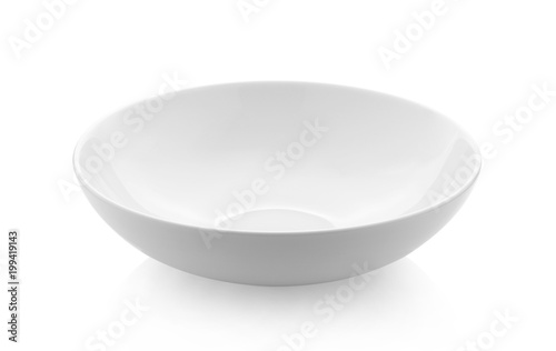 Photo  empty white bowl on white background