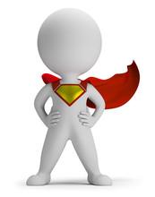 3d Small People - Superhero