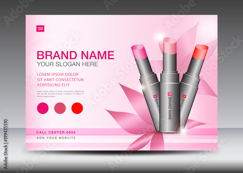 Cosmetics Banner Design Template Vector Illustration Lipstick Mask Bottle Isolated Brochure Flyer Product Design Advertisement Layout Poster Card Web Page Beauty Product Buy This Stock Vector And Explore Similar Vectors At