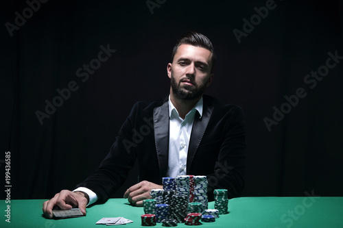 Fotomural Portrait of a professional poker player
