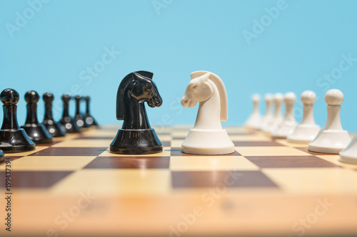 Slika na platnu The chess board and game concept of business ideas and competition