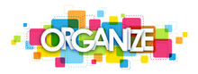 ORGANIZE Colourful Letters Icon