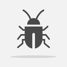 Bug Insect Virus Vector Icon Virus And Bateria