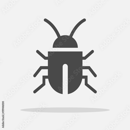 Bug insect virus vector icon virus and bateria Fotobehang