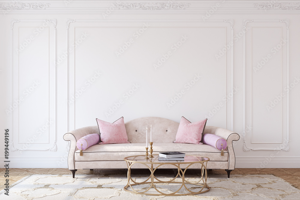 Fototapety, obrazy: Living-room interior. 3d render.