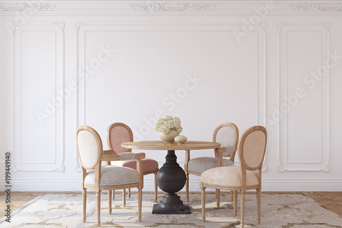 Fotografía  Dining-room interior.3d render.