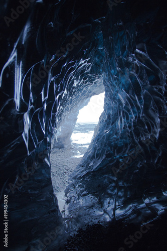 Fotografie, Obraz  Eishöhle auf Island