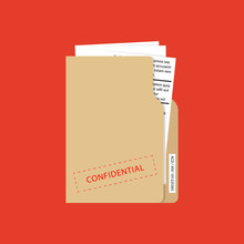 Confidential And Top Secret Document Concept. Vector