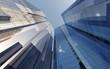 skyscrapers against the sky, modern high-rise buildings, 3D rendering