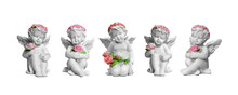 Angel Figurines Isolated On Wh...