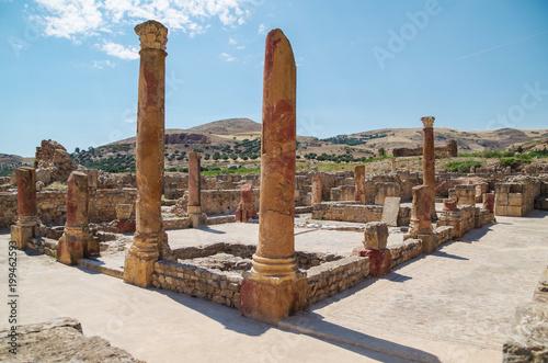 Valokuva  Bulla Regia. Ruins of the Roman city. Tunisia, near Jendouba