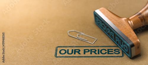 Fotografía  Our prices, web header.