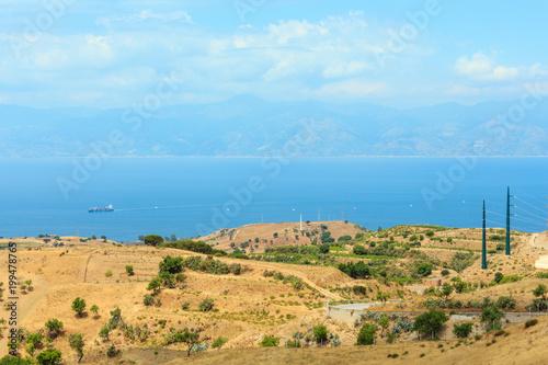 Spoed Foto op Canvas Mediterraans Europa Sicily coast landscape, Reggio Calabria, Italy