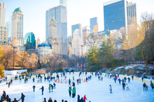 Ice Skaters Having Fun In New ...