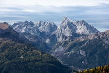 Marmolada In Autumn, Dolomites, Veneto