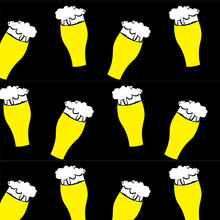 The Pattern Of Beer Glasses Wi...