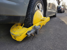 Car Wheel Blocked By Wheel Lock/clamp In Montreal, Canada