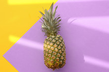 Fresh Ripe Pineapple On Color ...