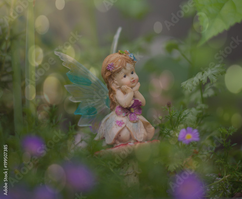 Poster Feeën en elfen Fairy Garden dreaming