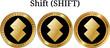 Set of physical golden coin Shift (SHIFT)