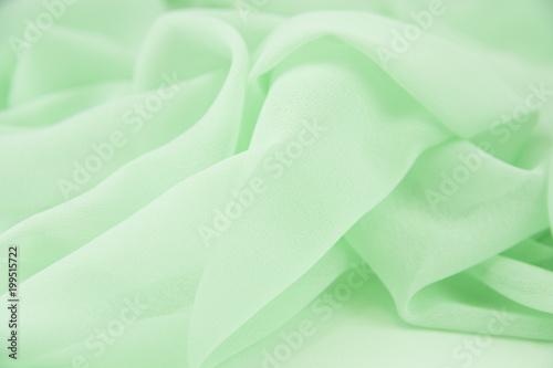 Obraz na plátně  Texture chiffon fabric light green color for backgrounds