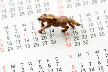 馬とカレンダー