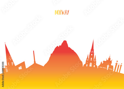 Photo  Norway Landmark Global Travel And Journey paper background