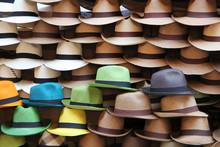A Selection Of Panama Hats Pil...